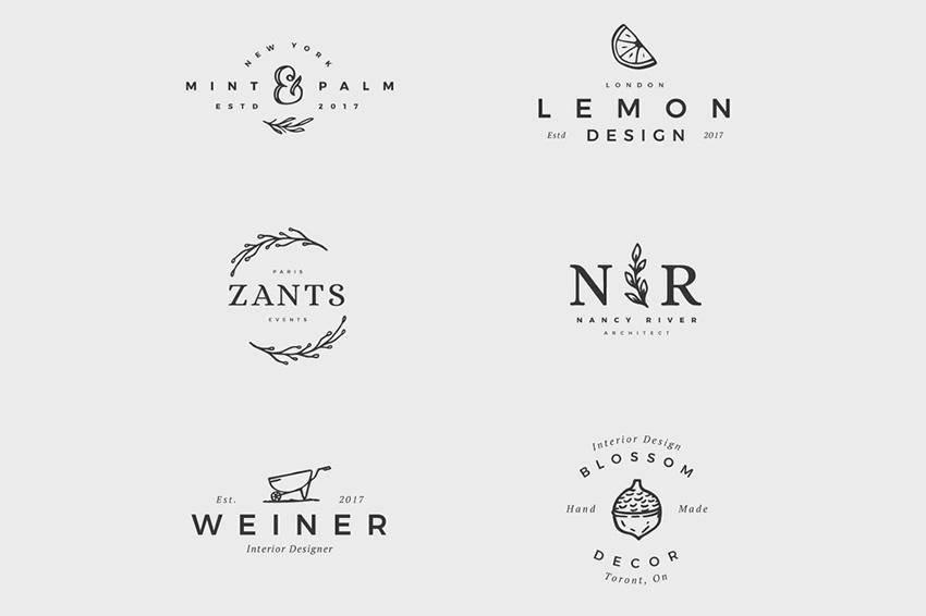 12 plantillas de logotipos femeninos gratuitos PSD