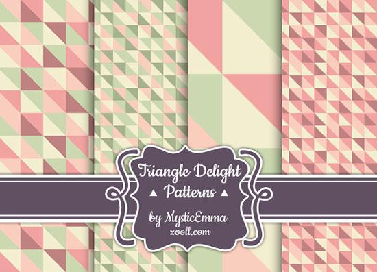 Vista previa de patrones de triángulo de placer