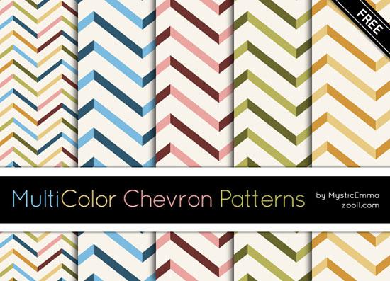 Vista previa de patrones de Chevron MuliColor