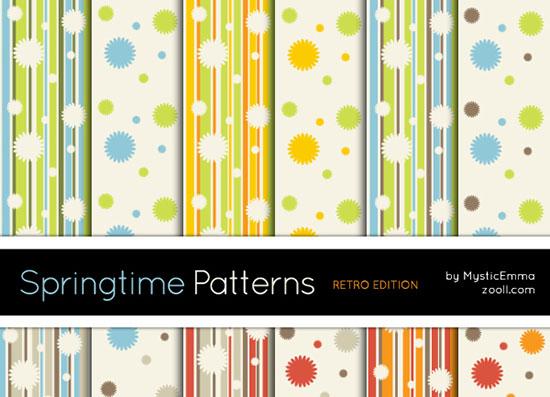 Vista previa de Sprintgtime Patterns Retro Edition