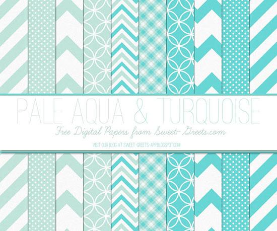 Paquete de papeles Turquesa Aqua Pale