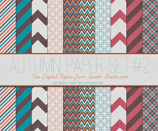 Set de papel digital otoño 2