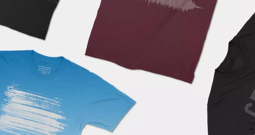 Maquetas de camisetas 4K fotorrealistas Photoshop PSD