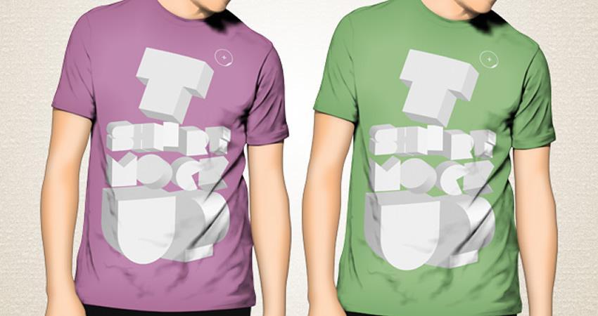 Plantillas gratuitas de maquetas de camisetas Photoshop PSD