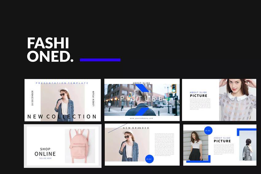 Plantilla de PowerPoint - estilista de moda