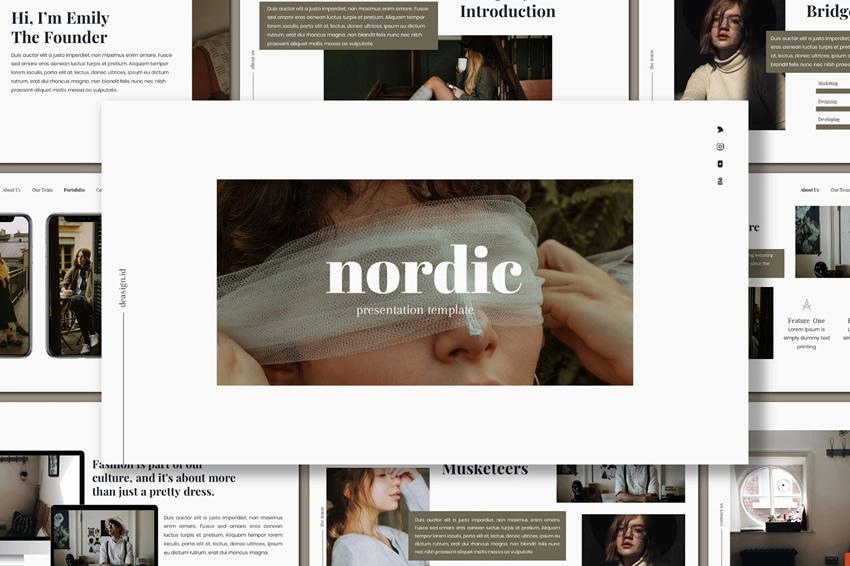 Plantilla de presentación de PowerPoint nórdica gratuita