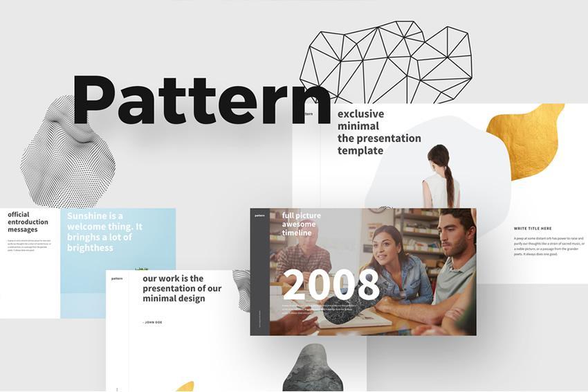 Plantilla de PowerPoint de patrón gratuito