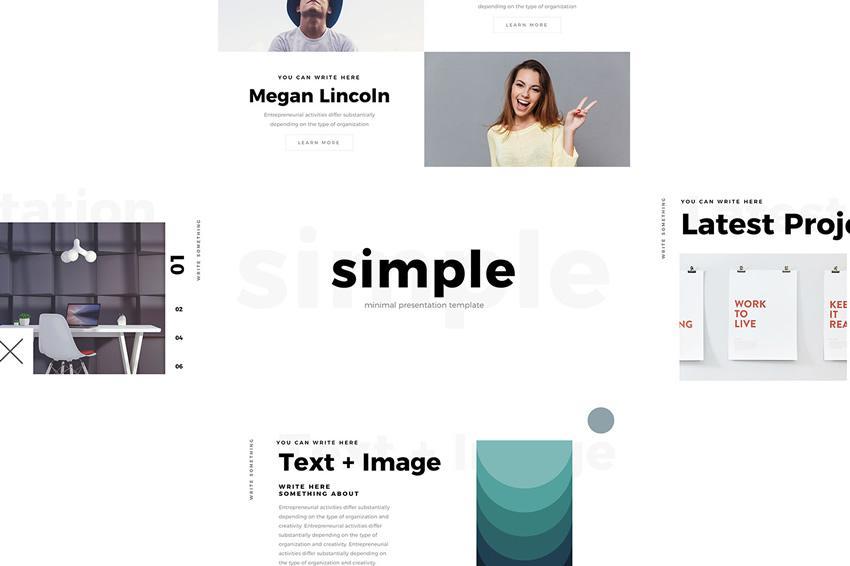 Plantilla de PowerPoint mínima simple gratuita