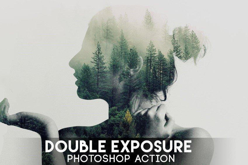 Acción de Photoshop de doble exposición