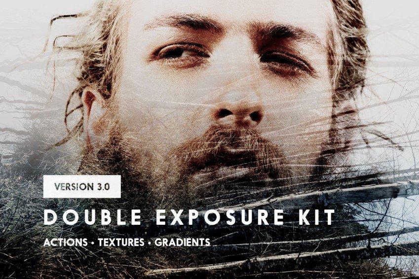 Kit de acción de Photoshop de doble exposición
