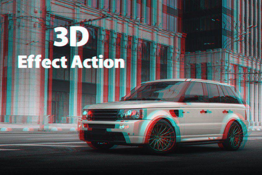 Acciones de Photoshop con efectos 3D