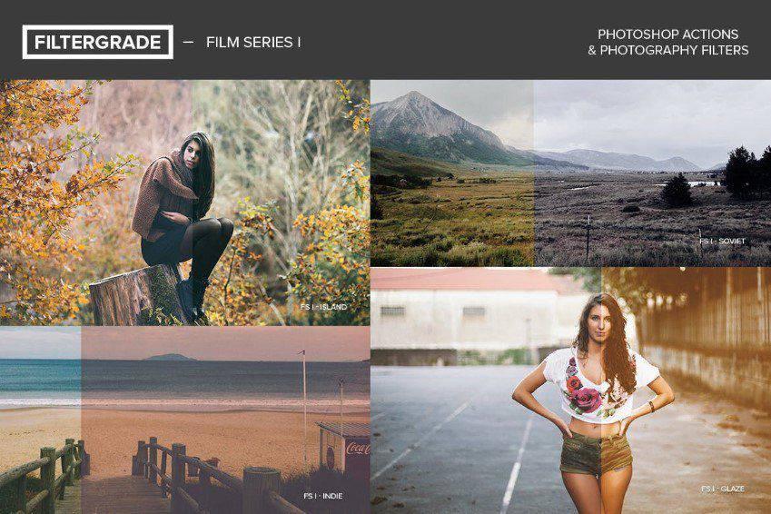 FilterGrade Film Series Acciones de Photoshop