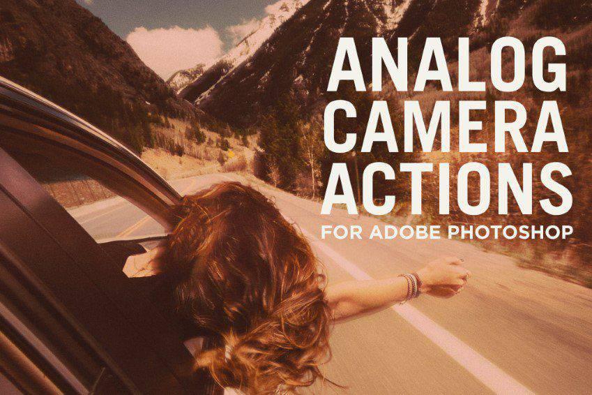 Acciones de Photoshop de cámara analógica