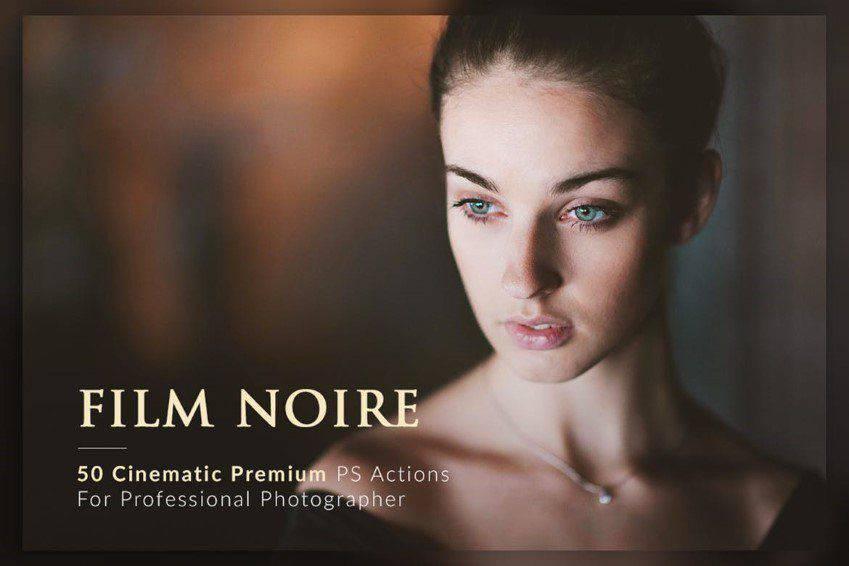 Paquete de acciones de Photoshop Film Noire