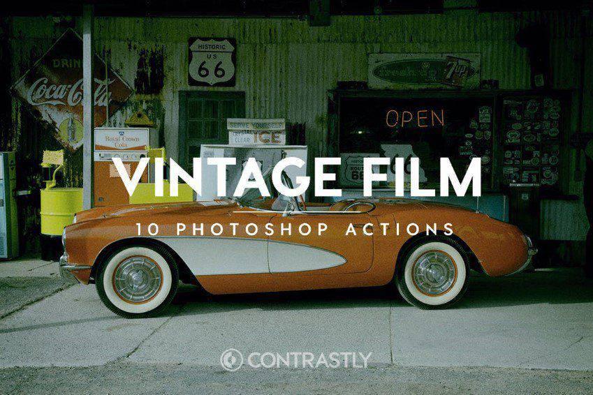 Acciones de Photoshop de película vintage