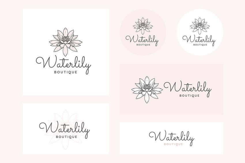 Plantillas vectoriales de logotipos femeninos AI SVG PNG