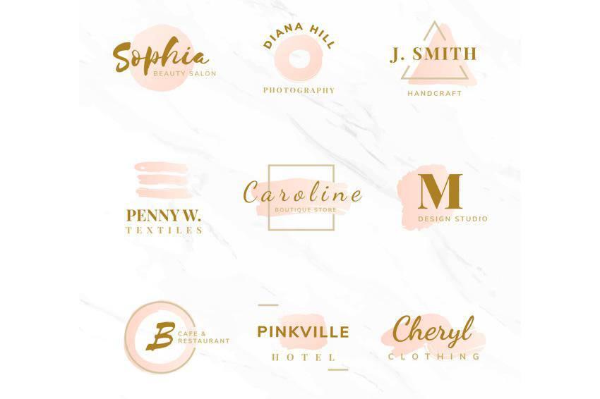 Plantillas de logotipos de moda de belleza EPS