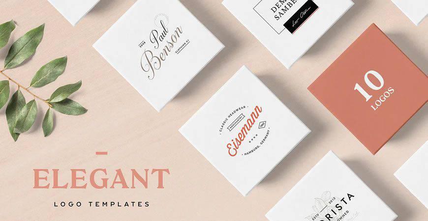 Plantilla de kit de creador de logotipos elegante