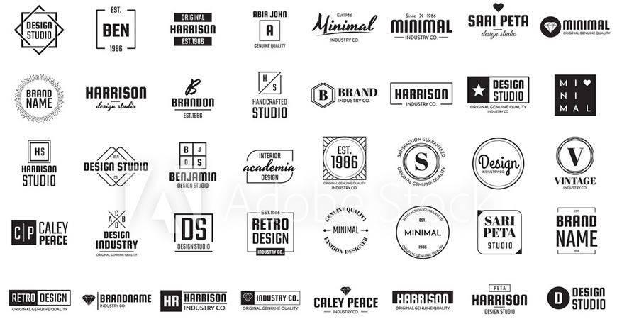 Kit de creador de logotipos Minimal Logo Template Collection