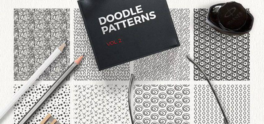 Patrones de Doodle adobe illustrator