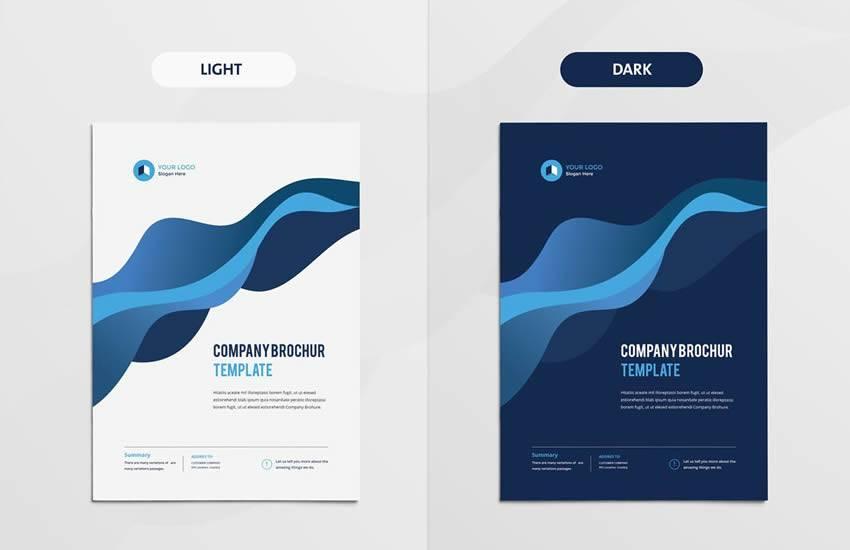 Formato de plantilla de negocio de folleto multipropósito moderno limpio