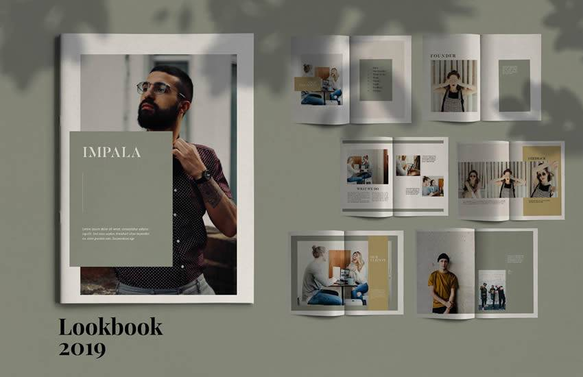 Formato de plantilla de negocio de folleto de Impala
