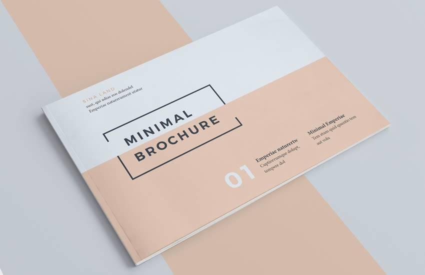 Formato de plantilla de negocio de folleto mínimo