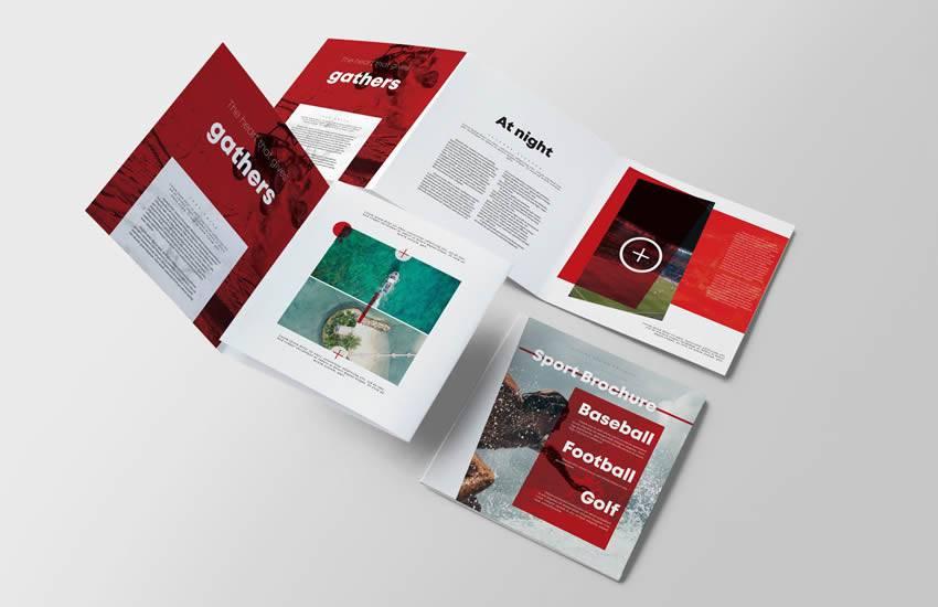 Formato de plantilla de negocio de folleto de Sport Square