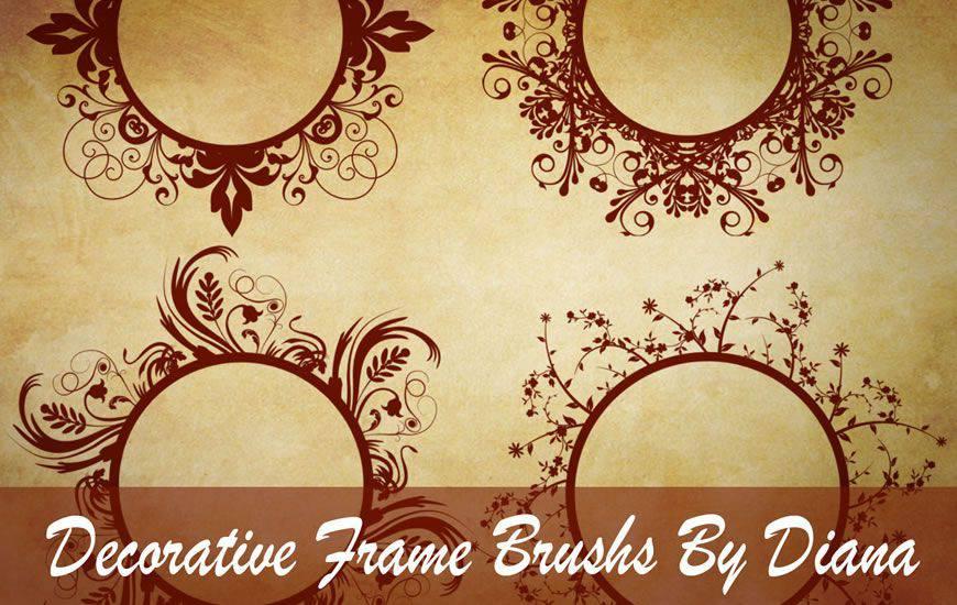 Cepillo decorativo de photoshop del remolino de la cinta del marco del remolino gratis
