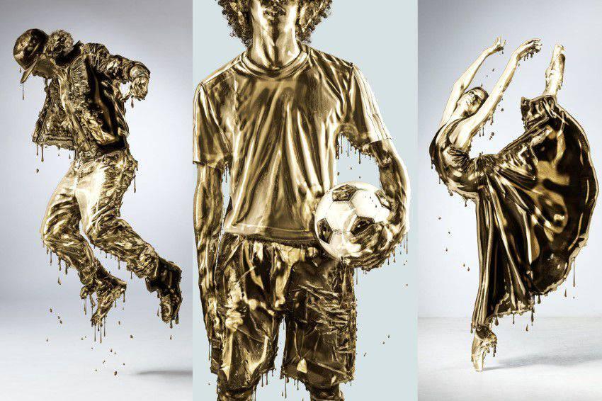 Acción de Photoshop de oro que gotea