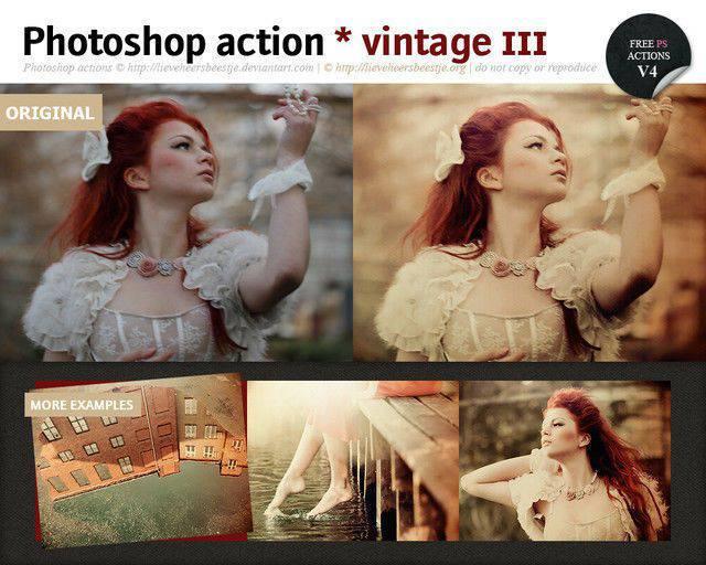 Acción vintage de Photoshop III