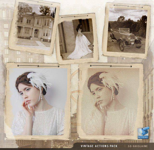 Acciones Vintage photoshop gratis