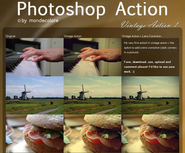 Acción de Photoshop Vintage I