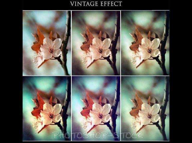 Acciones de Photoshop Efecto Vintage