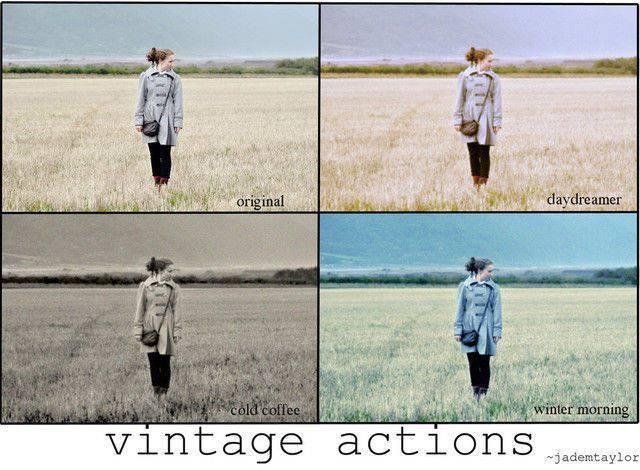 acciones de Photoshop vintage