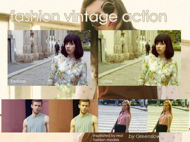 Acción vintage de moda