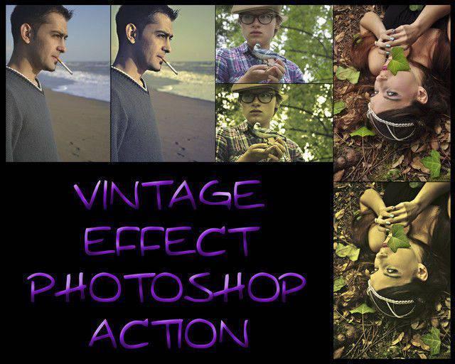Acción de Photoshop Efecto Vintage