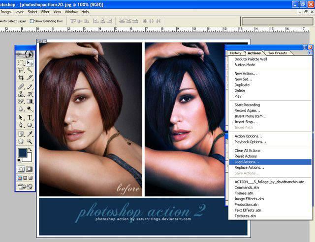 La instalación de acciones de Photoshop también es muy fácil y hay varias formas de instalar acciones de Photoshop.