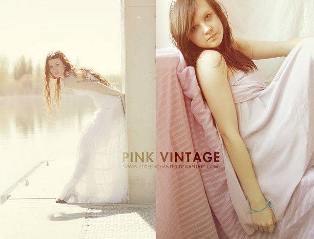 Acción vintage rosa