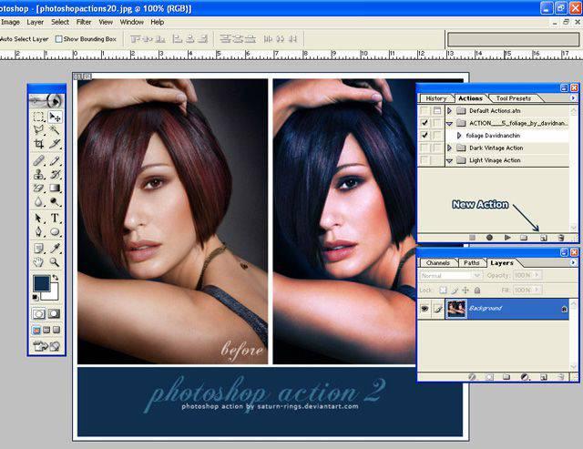 Es muy fácil crear tus propias acciones vintage de Photoshop.