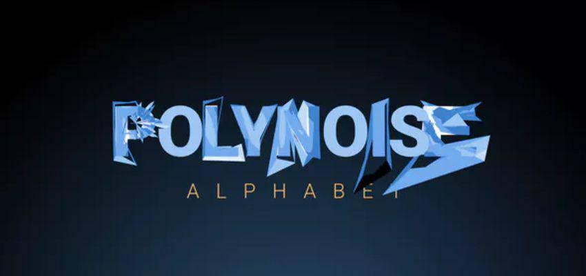 PolyNoise Alphabet - Plantilla de tipografía animada
