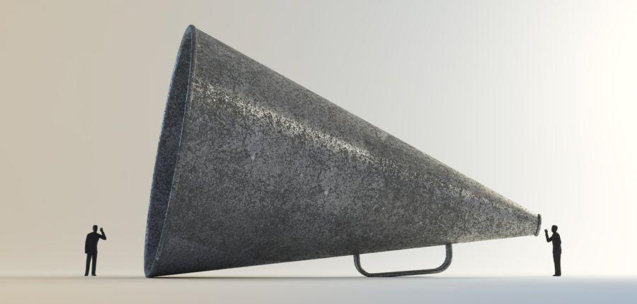 megáfono escuchar vintage buenas malas ideas de diseño