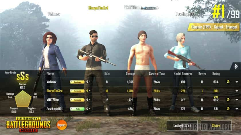 Tencent-gaming-buddy-PUBG-mobile-victory-screen