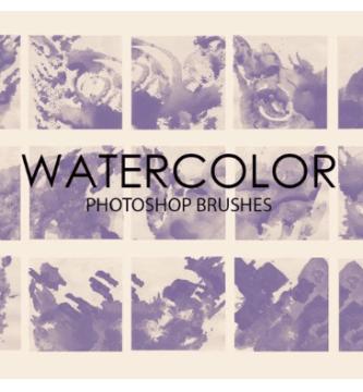 Descargar gratis watercolor photoshop brushes