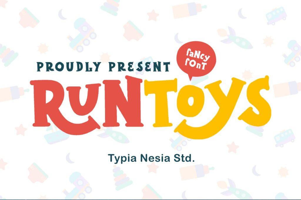 Runtoys free fonts